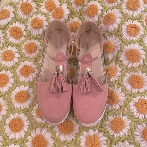 Pink Tassel Summer Sneaker